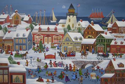 Christmas Folk Art Paintings